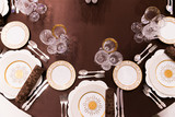 beautifully served table in a restaurant - 205957736