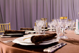 beautifully served table in a restaurant - 205957969
