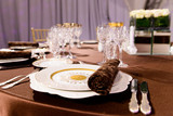 beautifully served table in a restaurant - 205957989