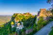 Leinwanddruck Bild - Castello di Venere in Erice, Sicily, Italy