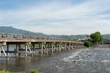 京都嵐山の渡月橋 - 205973734