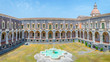 Quadro View of an inner courtyard of the University of Catania residing in the former monastery of benedettini di san Nicolo, Sicily, Italy