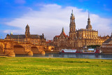 Dresden skyline and Elbe river in Saxony Germany - 205981378