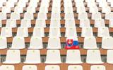 Stadium seat with flag of slovakia