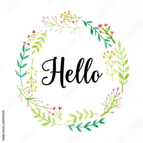czesc-slowo-na-kolorowym-akwarela-kwiatu-wianku-na-bialym-tle-sztandar-kartka-z-pozdrowieniami