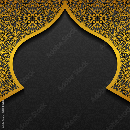 Floral background with traditional ornament - 206004908