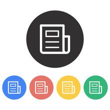News  Icon Sticker