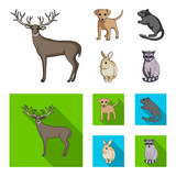 Puppy, rodent, rabbit and other animal species.Animals set collection icons in cartoon,flat style vector symbol stock illustration web.