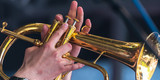 Jazz Trompete Finger Ausschnitt