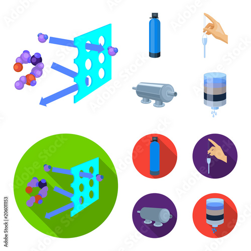 Purification, water, filter, filtration .Water filtration system set collection icons in cartoon,flat style vector symbol stock illustration web.