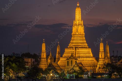 Aluminium Bangkok View of Wat Arun in Bangkok Thailand