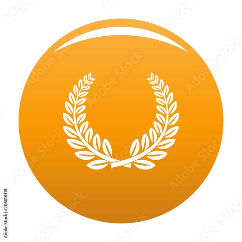 Trophy icon. Simple illustration of trophy vector icon for any design orange