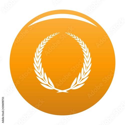 Ikona zwycięstwa. Prosta ilustracja zwycięstwo wektorowa ikona dla jakaś projekta pomarańcze