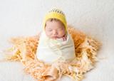 sleeping newborn baby girl - 206026350