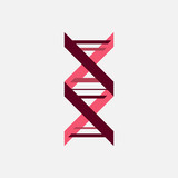 Thin line concept. DNA Icons set vector illustration. Polygonal DNA concept. DNA, genetic sign, elements and icons collection. Vector mesh spheres. - 206027553