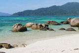 beautiful beach with spectacular reef in Koh Lipe island, Thailand