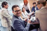 Business people having meeting in modern office