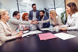Business people having meeting in modern office - 206040385