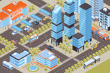 Transport Isometric Illustration