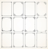 Vector Calligraphic Frame set - 206046552