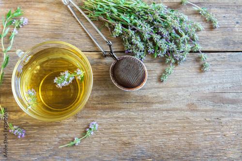 Fototapeta herbal tea with wild thyme