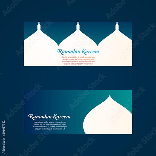 ramadan kareem islamic background template banner card