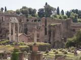 24 april 2018, Forum Romanum, Fori romani, ancient site of antique city of Rome, in Rome near Palatino hill - 206066916