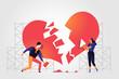 Una coppia ricompone i pezzi della relazione entimentale