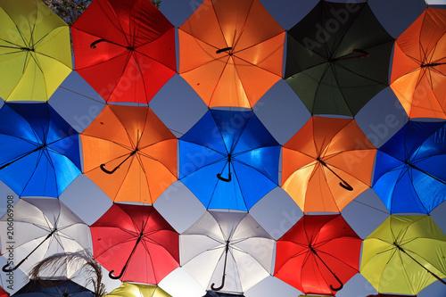 Canvas Cyprus Umbrellas in old city, Nicosia, Cyprus