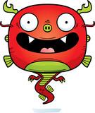 Smiling Cartoon Chinese Dragon