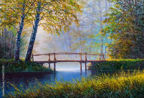 Oil painting landscape © serge-b