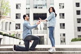 The girl refuses the boy in the marriage proposal.
