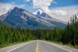Mountain Meets Road in Banff National Park, Alberta, Canada