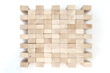 Wooden blocks isolated on the white background