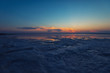 Quadro Beauty sunset on salty lake in Altay, Siberia, Russia