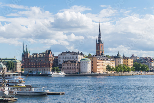 Wall mural Cityscape of Gamla stan, the old town in Stockholm, Sweden