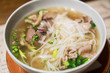 Vietnamese classic noodle soup in the Asian restaurant. - 206098782