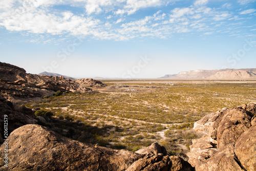 Wall mural Desert landscape view at Hueco Tanks in El Paso, Texas.