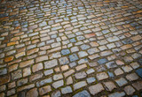 Wet ancient cobblestones - 206114983