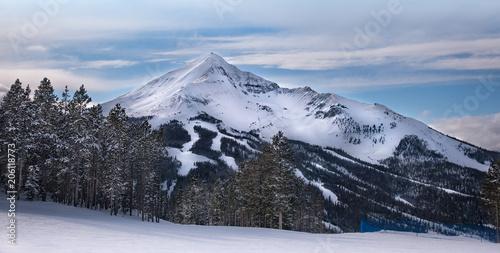 Light hits Lone Peak at Big Sky © Brandon