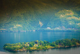 View of fjord near Bergen in Norway - 206121782
