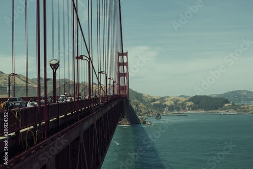 Fotobehang San Francisco Most Golden Gate w San Francisco