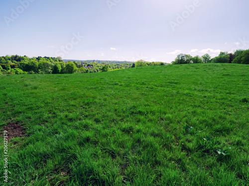 Aluminium Groene Sunny spring countryside,Northern Ireland
