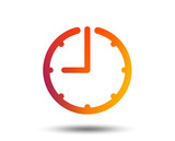 Clock time sign icon. Watch or timer symbol. Blurred gradient design element. Vivid graphic flat icon. Vector