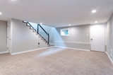 Light spacious basement area with staircase. - 206131766