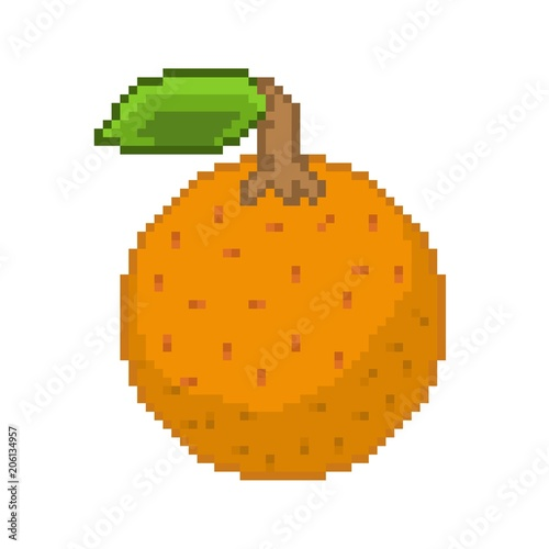 orange icon pixel art