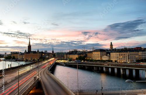 Fotobehang Stockholm Stockholm skyline at twilight