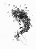 beautiful woman. fashion illustration. watercolor painting - 206166776