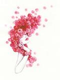 beautiful woman. fashion illustration. watercolor painting - 206166796