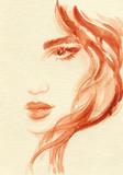 beautiful woman. fashion illustration. watercolor painting - 206167320